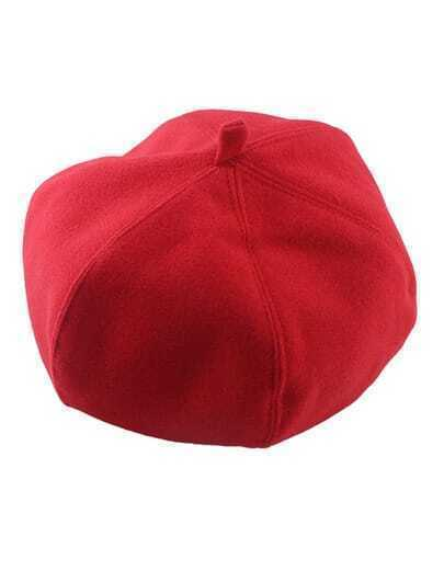 Red Wollen Topper Winter Hat