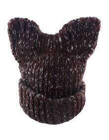 Coffee Trendy Winter Knitted Hat