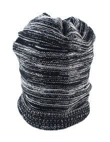 Fashion Winter Style Black Woolen Lady Knitted Beanie Hat