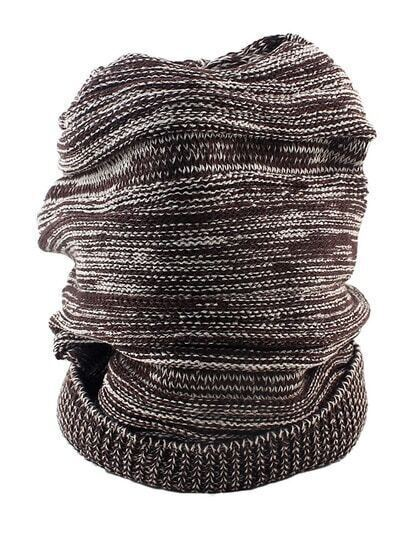 Coffee Woolen Knitted Beanie Hat