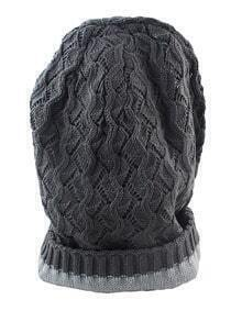 Fashionable Woolen Grey Ladies Knitted Beanie Hat