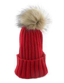 Red Knitted Women Winter Hat