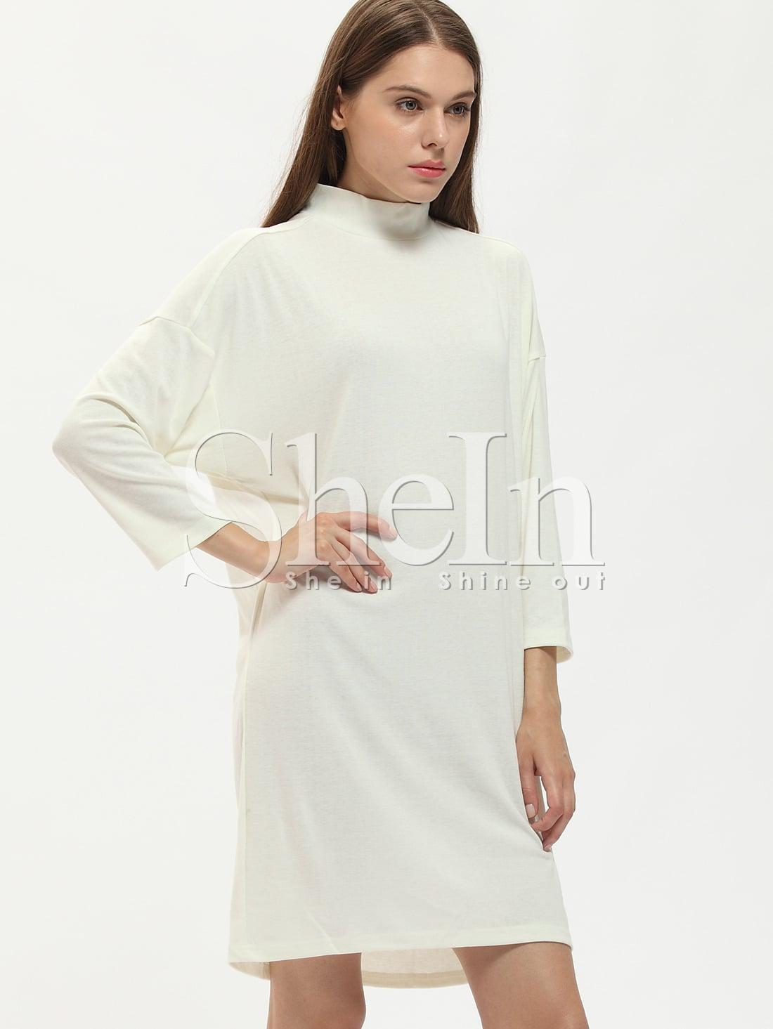 Бежевое платье воротник стойка