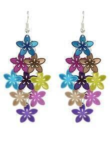 Colorful Metal Flower Shape Fancy Earrings