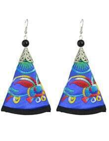 Blue Artificial Triangle Pendant New Model Earrings