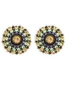 Multicolors Rhinestone Small Stud Earrings for Women