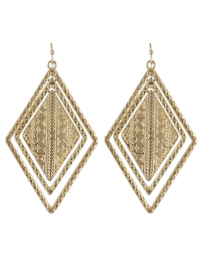 Gold Plated Large Gold Jhumka Earrings