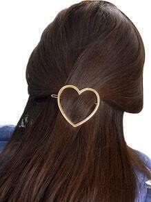 Gold Plated Heart Shape Hair