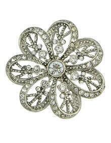 Elegant Weding Party Big Flower Rhinestone Brooch
