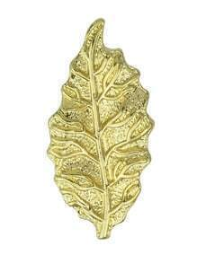 Gold Plated Small Leaf Shape Brooch Pin
