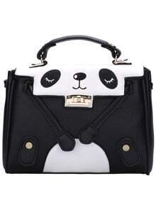 Twist Lock Large Panda Shoulder Bag