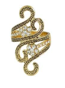 Gold Plated Stone Ring for Women