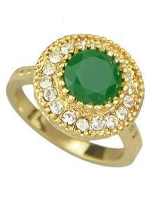 Green Single Colored Stone Rings