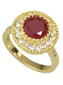 Red Single Colored Stone Rings