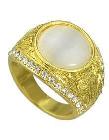 Gold Plated Large Big Stone Ring Designs