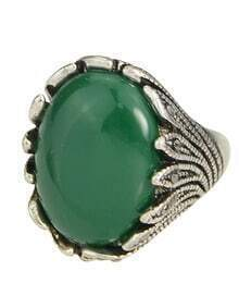 Green  Single Big Stone Ring Designs