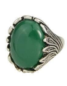 Green Single Big Stone Ring