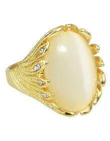 Gold Single Big Stone Ring Designs
