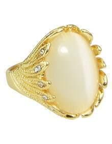 Gold Single Big Stone Ring
