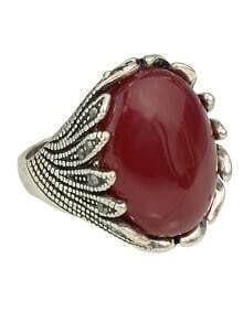 Red Single Big Stone Ring Designs