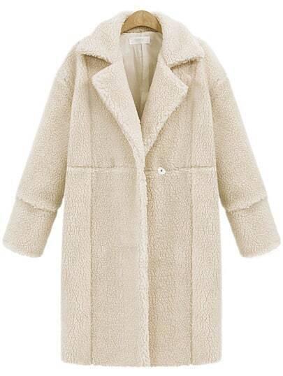 Milky Lapel Cashmere Outerwear