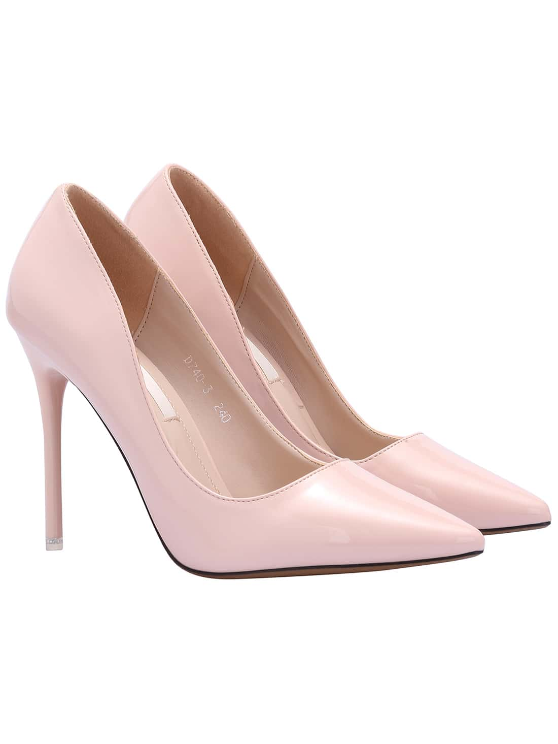 Pink Pointed Toe Patent Leather Pumps