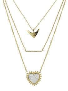 White Alloy Chain Necklace for Women