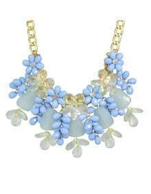 Blue Beautiful Flower Necklace