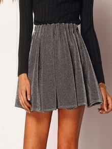 Grey Glisten Flare Skirt