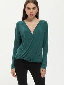 Green Wrap Front Or Back Convertible T-Shirt