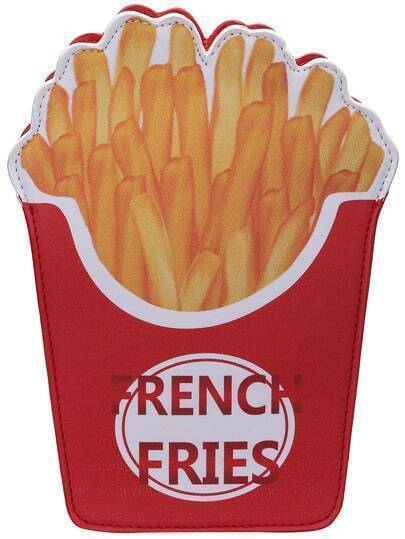 Red French Fries Chain Small Bag