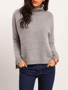 Jersey manga larga suelto -gris