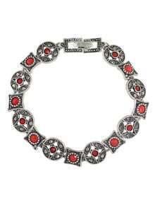 Red Imitation Gemstone Wrap Bracelet