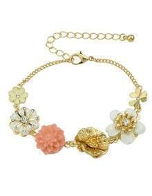 New Arrivals Colorful Resin Flower Charms Bracelet for Women