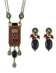 Atgold Long Pendant Jewelry Set
