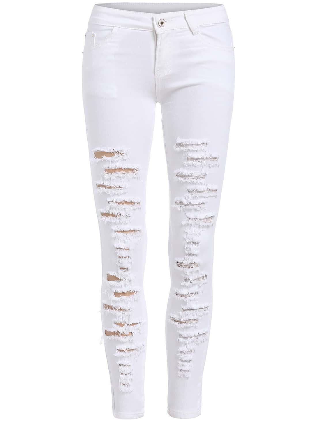 Фото Distressed Ankle Jeans. Купить с доставкой