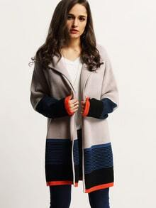 Apricot Color Block Cardigan