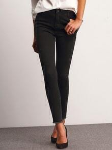 Black Skinny Pockets Denim Pant