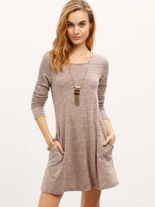 Grey Cut Out Back Shift Dress