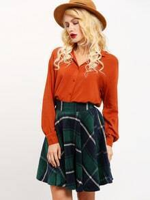 Red Cut Out Back Blouse