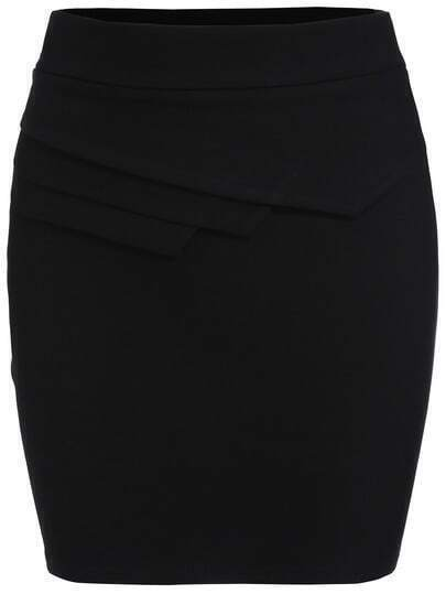 Black Slim Bodycon Skirt