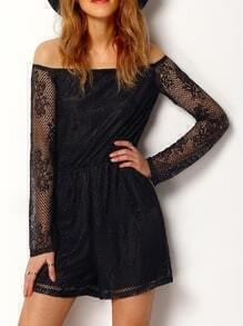 Black Off The Shoulder Lace Dress