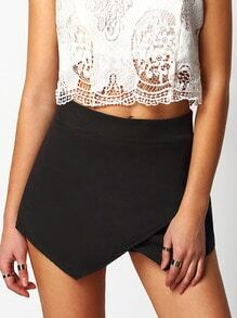 Black High Waist Skirt Shorts