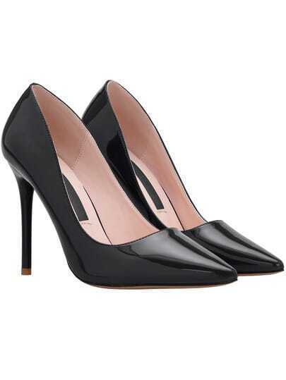 Black Point Toe High Stiletto Heel Pumps