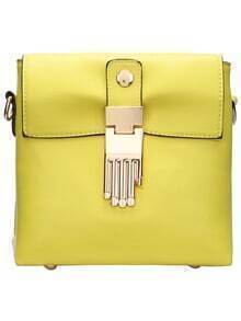 Yellow Buddha Hand Embellished Cross Body Bag