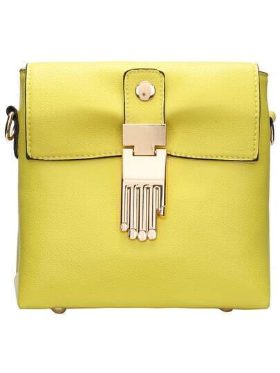 Yellow Buddha Hand Embellished Cross Body Bag