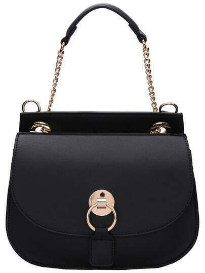 Black Magnetic Chain Shoulder Bag