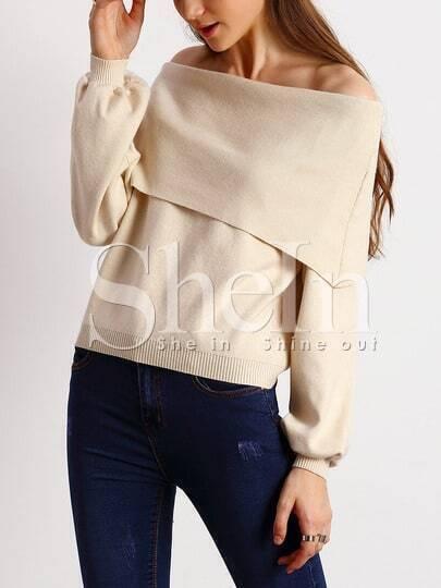 Jersey hombro al aire -albaricoque