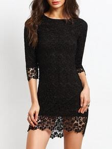 Hollow Out Lace Bodycon Dress