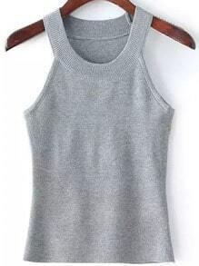 Grey Woman Sweater Cami Top